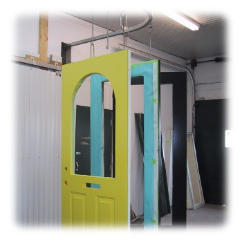 Doors by Paint Booth
